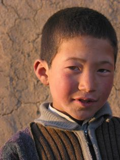Hazara boy. A Mongoloid ethnic group, descendent of Genghis Khans army. Located mostly in Afghanistan and Pakistan.