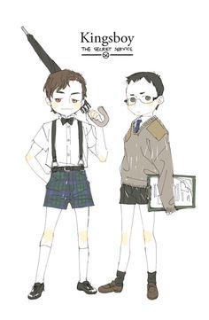 Young Harry and Merlin - soo cuteeeee! Kingsman