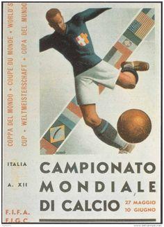 Poster oficial da Copa do Mundo de 1934 / Official poster of the 1934 Football World Cup.