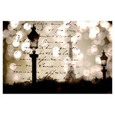 Eco-friendly canvas art of a French love letter and the Eiffel Towel. Signed by artist Parvez Taj.  Product: Wall artConstruction Material: CanvasFeatures:  Eco-friendlySolvent free inkReady to hangArtist signature on front and bio on back
