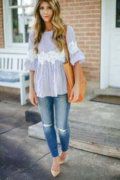 The Perfect Blouse   spring style   spring fashion   fashion for spring   style for spring   warm weather style   how to to style a lace top    The Girl in the Yellow Dress
