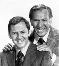 """(The Odd Couple and Quincy, M.) was also born on April and is on a long list of Famous Veterans having served in the United States Army during World War II (""""The Odd Couple"""" Photo: Klugman with fellow WWII Veteran 1970s Tv Shows, Old Tv Shows, Old Movies, Great Movies, Tony Randall, Famous Veterans, Famous Duos, Odd Couples, Famous Couples"""