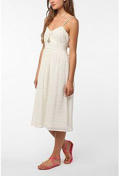 Urban White Midi Dress