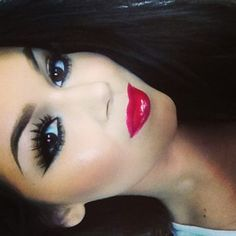 Long Lashes- Perfect Brows- Red Lips