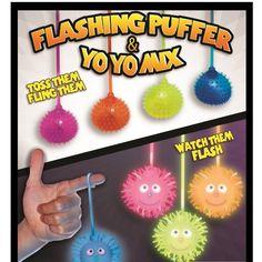 "Flashing Puffer Balls and Yo-Yo Balls Mix 2"" Capsules"
