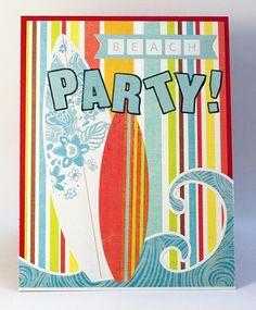Summer Beach Party Invitations