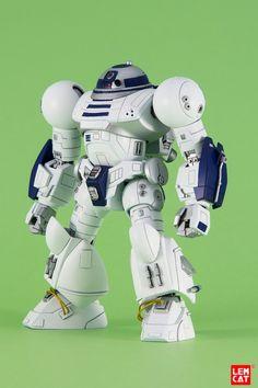 HG Enhanced Astrodroid [Star Wars - Custom Build by The Lemcat Simbolos Star Wars, Star Wars Droids, Star Wars Humor, Lego Star Wars, Michael J Fox, Cyberpunk, 3d Templates, D Mark, Custom Gundam