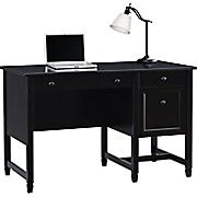 Shop Staples® for Sauder® Edgewater Single Pedestal Desk, Estate Black. Enjoy everyday low prices and get everything you need for a home office or business.