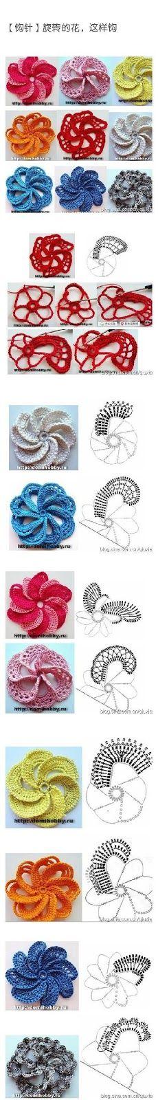como fazer espiral de crochê