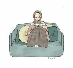 muslim girl illustration Cartoon Pics, Girl Cartoon, Cartoon Drawings, Cartoon Art, Muslim Pictures, Islamic Pictures, Bear Wallpaper, Cartoon Wallpaper, Hijab Drawing
