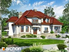 gotowy projekt Rezydencja w Myślenicach 3 (P) Dream House Plans, Modern House Plans, My Dream Home, Unique House Design, House Front, House 2, Home Design Plans, Minimalist Home, Home Fashion