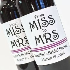 Bridal Shower Favor or Bachelorette Favor  From Miss by ZoeDeZigns