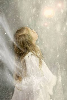 Her First Snow using Jessica Drossin Texture snow Nostalgia Art, Angel Images, Angels Among Us, Process Art, Angel Art, Fairy Art, Fantasy Creatures, Ciel, Faeries