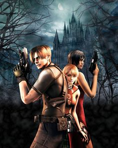 Leon, Ashley, and Ada from Resident Evil 4.