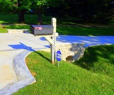 mailbox landscaping with culvert. Contemporary Culvert Driveway Culvert Landscaping  For Mailbox With