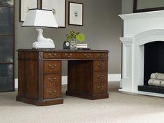 Hooker Furniture Knee Hole Desk #Classic, #Desk, #Furniture, #Sturdy, #Wood