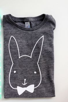 DIY Bunny T-Shirt Tutorial with FREE Template