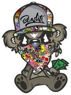 Sticker bomb Jdm Bandit Assis Paul - Stickers JDM & Drift