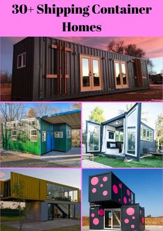 Green Shipping Container Homes that Promote Sustainable Living Steel Storage Containers, Storage Container Homes, Steel Building Homes, Building A House, Shiping Container Homes, Container Architecture, Steel Buildings, Prefab Homes, Mobile Home