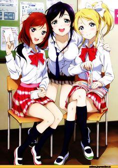 Anime,аниме,Love Live!,School Idol Project, Love Live! School Idol Project,Ayase Eli,Toujou Nozomi,Nishikino Maki