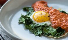 Eggs over Kale + Sweet Potato Grits