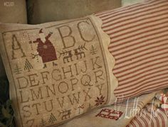 Anita's Little Stitches: New Victoria Sampler, With Thy Needle & Thread, Shepherd's Bush and Anchor Multi color floss...
