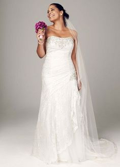 Plus Size Strapless Lace A-line Gown with Side Split Ivory David's Bridal,http://www.amazon.com/dp/B00B0LTK8Q/ref=cm_sw_r_pi_dp_.Rp7sb12AJ9SAM7Z