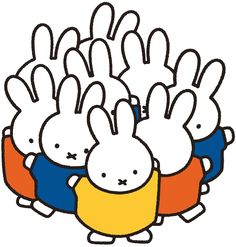 Dancing for Miffy by Dick Bruna Rabbit Drawing, Rabbit Art, Wordless Book, Beautiful Sketches, Miffy, Simple Illustration, Illustrations And Posters, Wall Collage, Cute Art