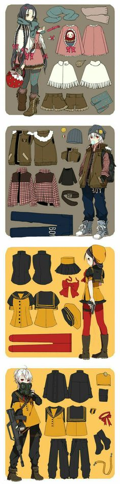 Clothes, girl, boy; How to Draw Manga/Anime