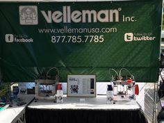 Our booth (PV08) for #WMF15 this weekend! | We're giving away a FREE #K8200 3D Printer! #MakerFaire