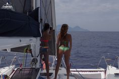 Thinking about your next sailing holiday on board a catamaran with nice breeze. #catamaran #sailing #nextsummer #aeolianislands #sicily #ilmiglioblue