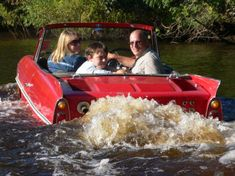 1964 Amphicar  - drives on land (Street Legal) or on water - seen one when I was a kid - drove straight down boat ramp and became a boat