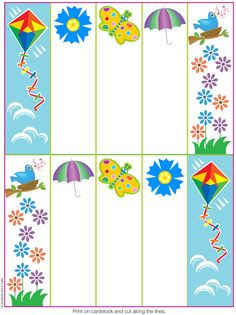 6 Best Images of Printable Spring Bookmarks - Free Printable Spring Bookmarks, Free Printable Spring Bookmarks and Free Printable Spring Bookmarks Spring School Party Ideas, Free Printables, Printable Bookmarks, How To Make Bookmarks, School Parties, Book Making, Coloring Pages, Favori, Origami