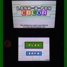 aAdventures In Gaming: Link-a-Pix Color - 3DS Lightwood Games new colorful puzzle logic fun game