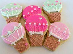Hot Air Balloon Cookies  1 Dozen by acookiejar on Etsy, $19.95