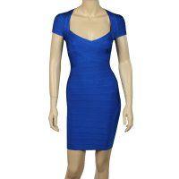 HERVE LEGER Raquel Bandage Sapphire blue Dress HERVE LEGER Raquel Bandage Sapphire blue Dress [HL5015] - $143.99 : Herve Leger Official Online Store  $143.99