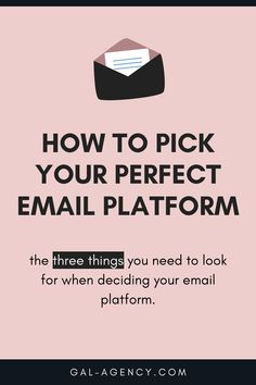 There are three things you need to look for when deciding your email platform - so you don't get stuck in a platform that doesn't meet your need. Whether it's FloDesk, MailChimp, or ActiveCampaign. There is a perfect platform out there for you. You just have to uncover a few things first. #emailmarketing #onlinebusiness #mailchimp #flodesk #convertkit #marketing Sales And Marketing Strategy, Content Marketing Strategy, Best Email, Business Goals, Lead Generation, Small Businesses, Online Business, Platform