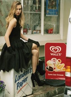 Cara Delevingne in Azzedine Alaia photographed by Bruce Weber for Love Magazine #8, Winter 2012/2013