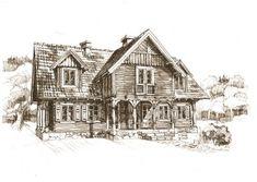 Dom drewniany Ryn