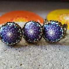 Earrings in mandalastyle