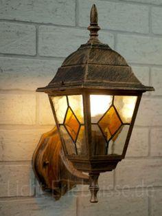 Rústica Lámpara de Pared / Iluminación Exterior IP43 / Oro Antiguo 8182n: Amazon.es: Hogar