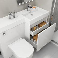 New bathroom sink vanity unit cabinet colors ideas Hang Towels In Bathroom, Bathroom Towel Storage, Small Bathroom, Modern Bathroom, Bathroom Sink Vanity Units, Bathroom Layout, Bathroom Ideas, Toilet Sink, Sink Toilet Combo