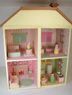 adorable peg doll house