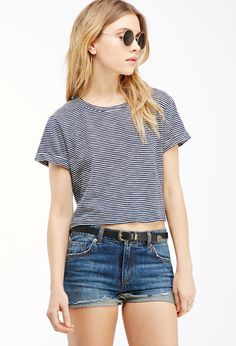 Striped Crop Top | Forever 21 - 2000118649