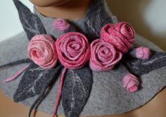 Schal Kette Blumen Vintage Jubliläumsfeuerwerk Rose von CozyFelt
