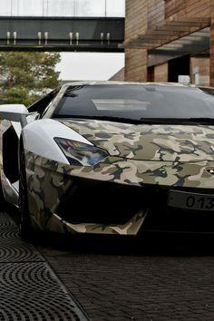 White and Camo wrap Lamborghini #cars