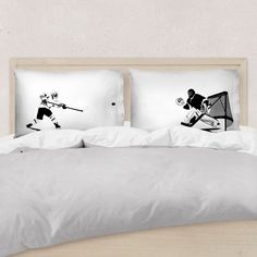 Our standard sized hockey pillowcases are the ideal bedroom decor for hockey players. Select designs can be personalized for a hockey gift players will love. Boys Hockey Room, Hockey Room Decor, Hockey Girls, Hockey Mom, Hockey Stuff, Girls Lacrosse, Field Hockey, Rink Hockey, Hockey Party