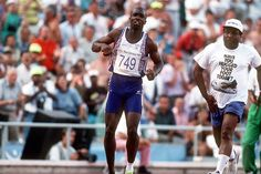 The moment when the British 400m sprinter Derek Redmond, supported by his father, hobbled across the finish line at the 1992 Olympic Games in Barcelona.