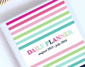 Printable Planner Pages (8.5x11in) - 2015-2016 Agenda - May 2015 through July 2016 Dated Monthly and Weekly Calendar - Instant Download