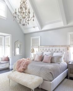43 Inspiring Master Bedroom Design Ideas For Your Home > Fieltro.Net Master Bedroom Ideas inspiring master bedroom design ideas for your home 24 > Fieltro. Pink Bedroom Design, Master Bedroom Interior, Glam Bedroom, Home Interior, Home Bedroom, Bedroom Ideas, Bedroom Designs, Bedroom Rustic, Bedroom Black